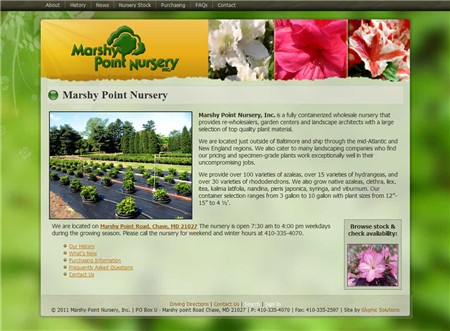 We Are Pleased To Announce The Launch Of A New Web Site For Marshy Point Nursery Is Fully Containerized Whole That